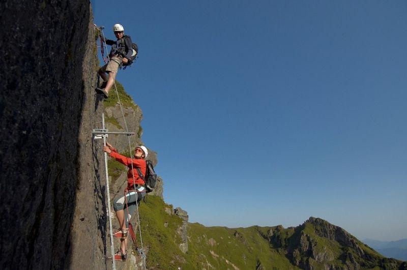 Kletterausrüstung Klettersteig : Klettersteige in fieberbrunn haus steffi appartements und
